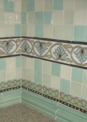 Custom hand made tiles set into kitchen splash