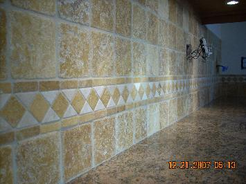4 inch Travertine run straight W/ liner