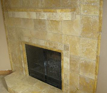 4 and 12 inch tumbled travertine