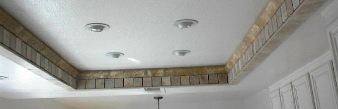 Kitchen ceiling soffet